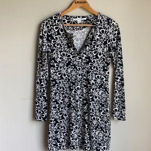 Diane von Furstenberg black floral dress 4